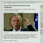 De internetpagina van Le Devoir, voordat deze uit de lucht werd gehaald.