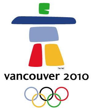 Het logo van de Olympische Winterspelen in Vancouver is een inukshuk, een wegwijzer van de Inuïtbevolking.