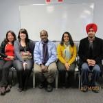 Deelnemers aan de seminars van de integratie-organisatie 'Entry' in Winnipeg.