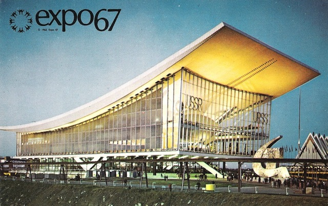 Paviljoen van de Sovjet-Unie bij Expo 67 in Montreal.