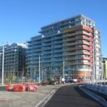 Het atletendorp in Vancouver, het laatste bouwproject dat is voltooid in de aanloop tot de Olympische Winterspelen van 2010.