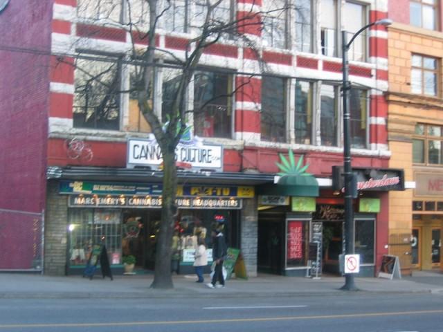 Het 'internationale hoofdkwartier' van Marc Emery in Vancouver.