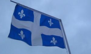 De vlag van Quebec, de fleur-de-lys.