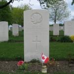 Grafstenen op de eerbegraafplaats voor Canadese militairen bij Groesbeek.