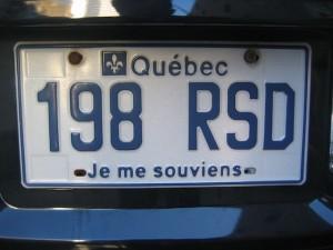 Nummerplaat in Québec.