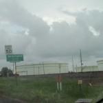 Megatanks voor olie in de plaats Nederland, een buurgemeente van raffinagecentrum Port Arthur aan de kust van Texas -- het eindpunt van de voorgestelde Keystone XL pijpleiding.