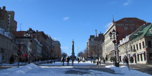 Place Jacques Cartier in het oude centrum van Montreal.