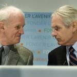 Filosoof Charles Taylor en socioloog Gérard Bouchard.