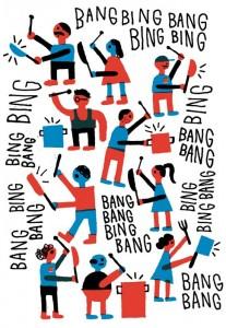 Illustratie van het pannenprotest in Montreal.