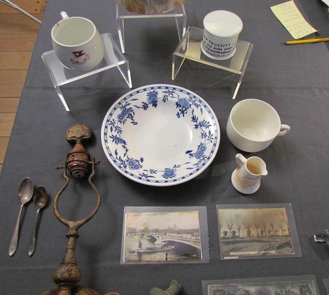 Voorwerpen uit de collectie van de Titanic.