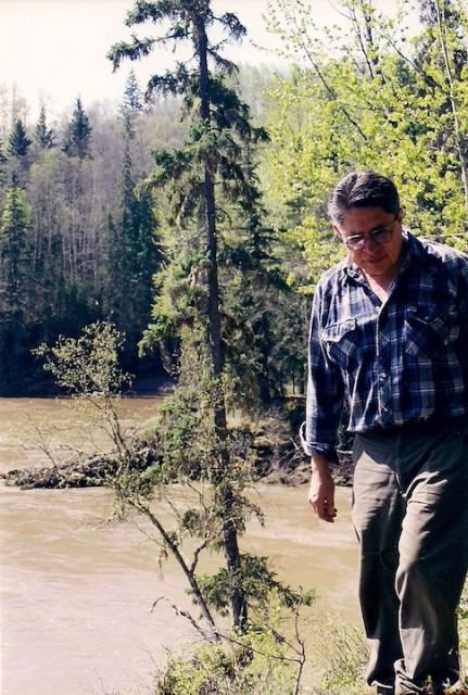 Don Ryan in het gebied van de Gitxsan-bevolking in British Columbia. Foto's Astri Sivertsen