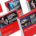 Afschrikwekkende foto's moeten sinds een jaar het bovenste deel van sigarettenpakjes in Canada bedekken.