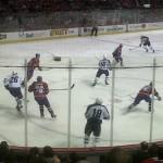 IJshockeywedstrijd tussen de Montreal Canadiens en de Winnipeg Jets in het seizoen 2011-2012.