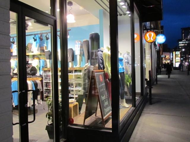 Winkel van Lululemon in Montreal.