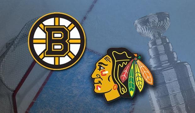 De Boston Bruins en Chicago Blackhawks strijden om de Stanley Cup.