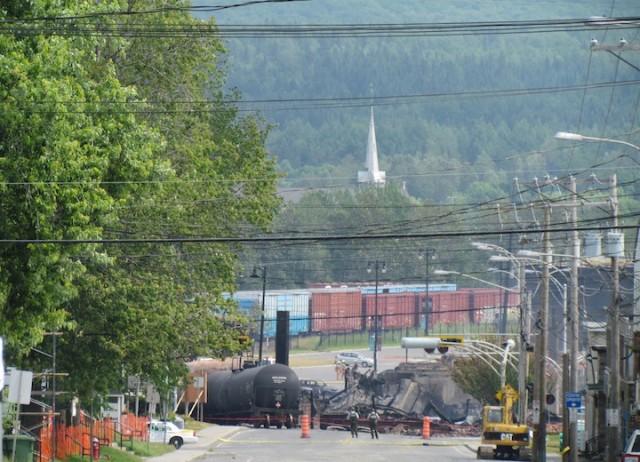De treinramp heeft grote verwoesting aangericht in Lac-Mégantic.