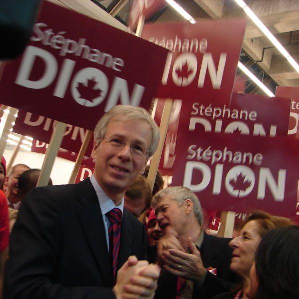 Stéphane Dion kwam tijdens de conventie naar voren als compromiskandidaat.