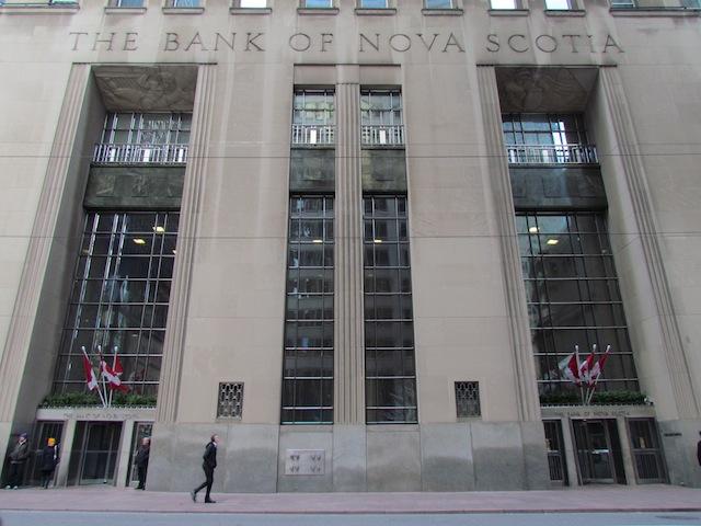 Hoofdkantoor van de Bank of Nova Scotia in Toronto.