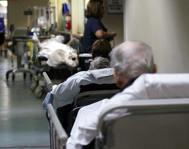 Patiënten liggen in Canadese ziekenhuizen niet zelden op de gang.