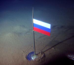 Rusland plaatste in 2007 een vlag op de zeebodem aan de Noordpool.