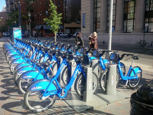 Citibikes in Manhattan.