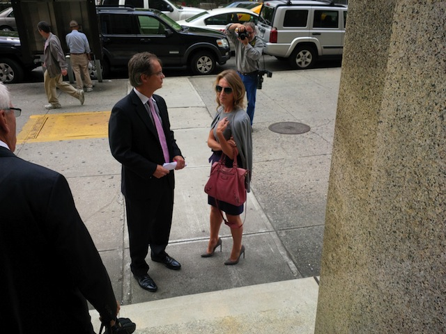 Heleen Mees in front of the Lower Manhattan courthouse yesterday.