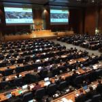 Vertegenwoordigers van de lidstaten van ICAO, de burgerluchtvaartorganisatie van de VN, bijeen in Montreal.