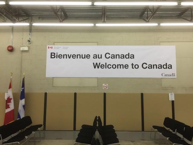 Welkomstcentrum voor Syrische vluchtelingen in Montreal.