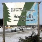 Welkomstbord van Hérouxville