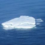 IJsberg voor de kust van Newfoundland, gezien vanuit het vliegtuig van de Internationale IJsbergpatrouille.
