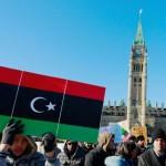Canadezen van Libische afkomst bij een eerdere demonstratie in Ottawa tegen het regime van kolonel Gaddafi (foto The Pioneer).