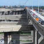 Het Turcot-verkeersplein in Montreal.