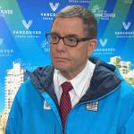 Raadslid Tim Stevenson zal Vancouver vertegenwoordigen in Sotsji.